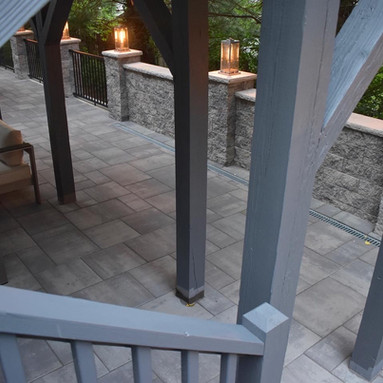 Custom patio and railing/post painting