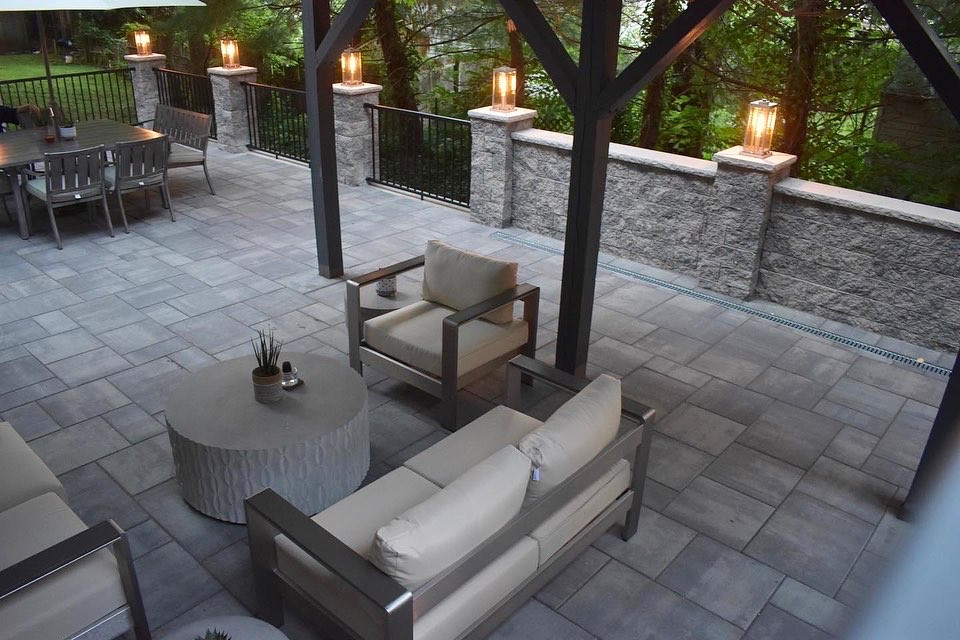 Custom Patio- Evening View