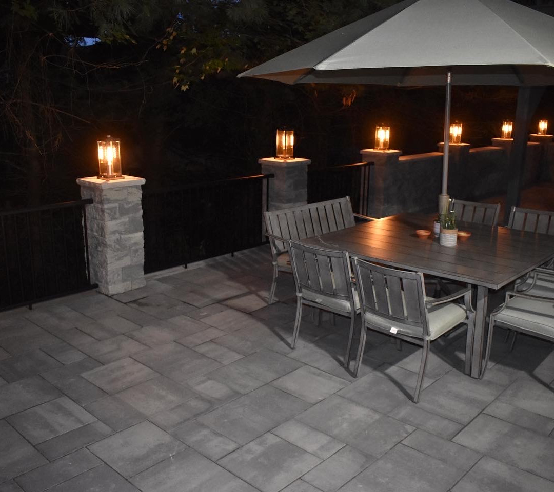 Custom Patio- Night View