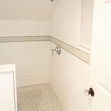 Shower tiling (after)