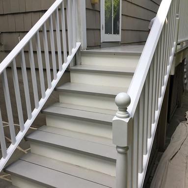 Outdoor staircase renovation