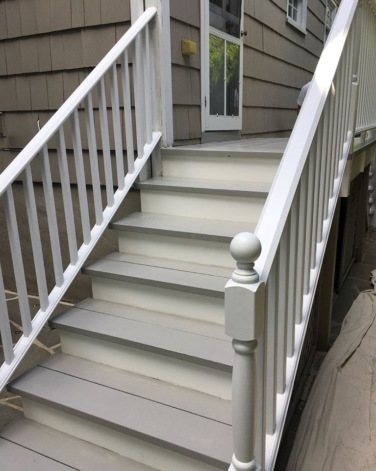 Outdoor staircase renovation