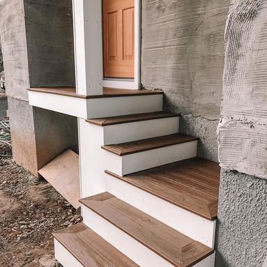 Outdoor side porch build