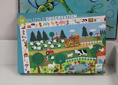 Puzzle d'observation La ferme