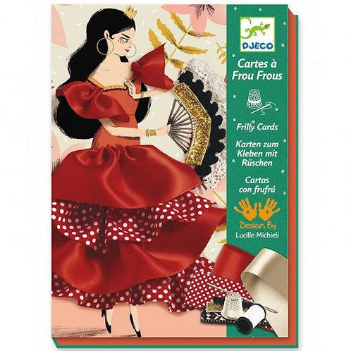 Cartes à frou-frous 'Flamenco'