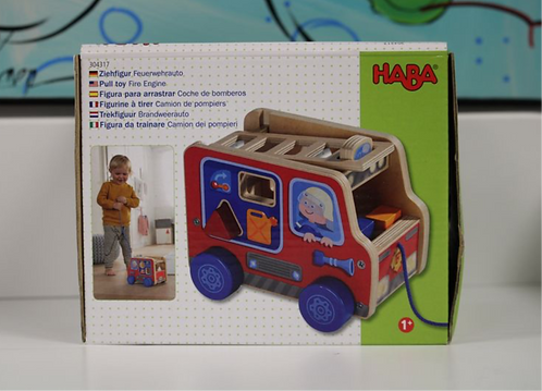 Figurine à tirer Camion de pompiers