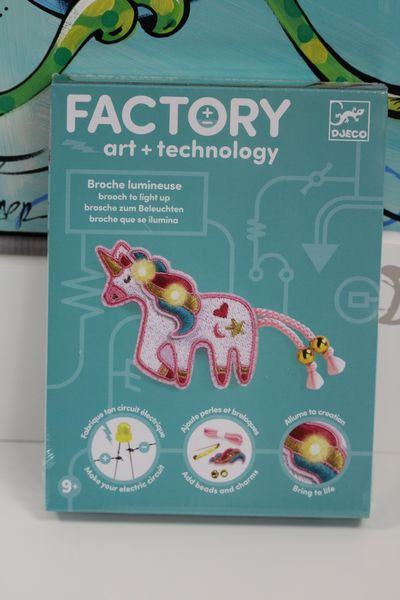 Art & Technology - Broche Lumineuse Licorne
