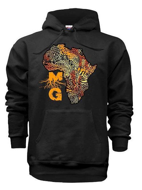 MELANATED GREATNESS AFRICAN JUNGLE PRINT HOODIE