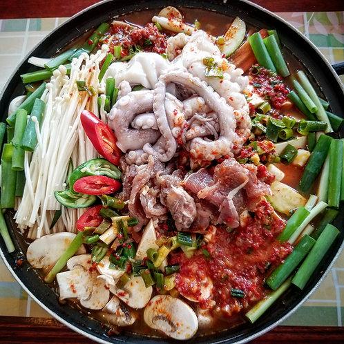 Bulgogi Octopus Hotpot (Simply Cook Kit)   불낙전골(조리팩)