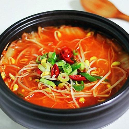 Kimchi Gukbap (Cooked) | 김치콩나물국밥