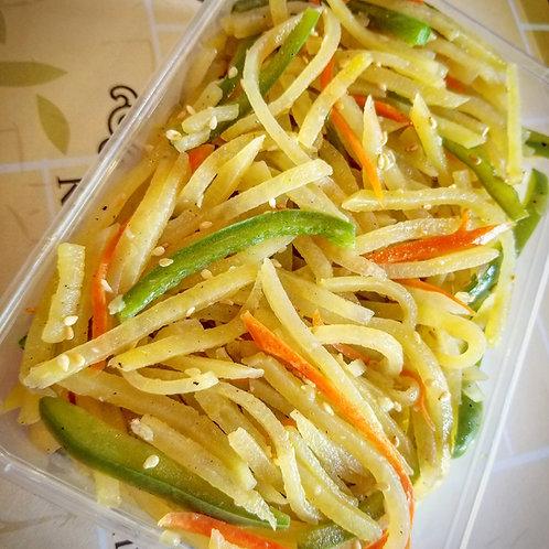Pan-Fried Potato Slices | 감자채 볶음