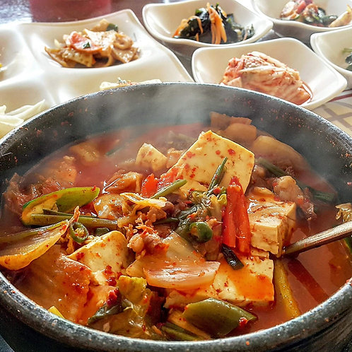 Doenjang Jjigae (Cooked) | 된장찌개 (Soybean Paste Stew)