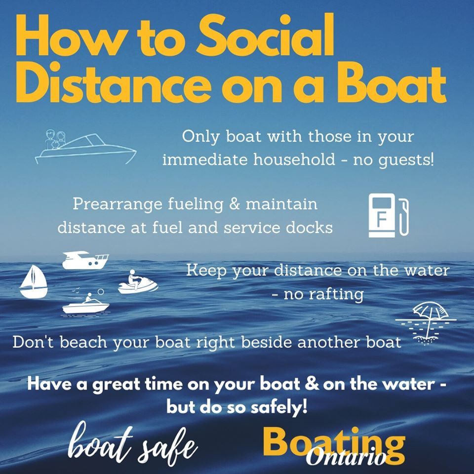 Social Distancing Boating Ontario