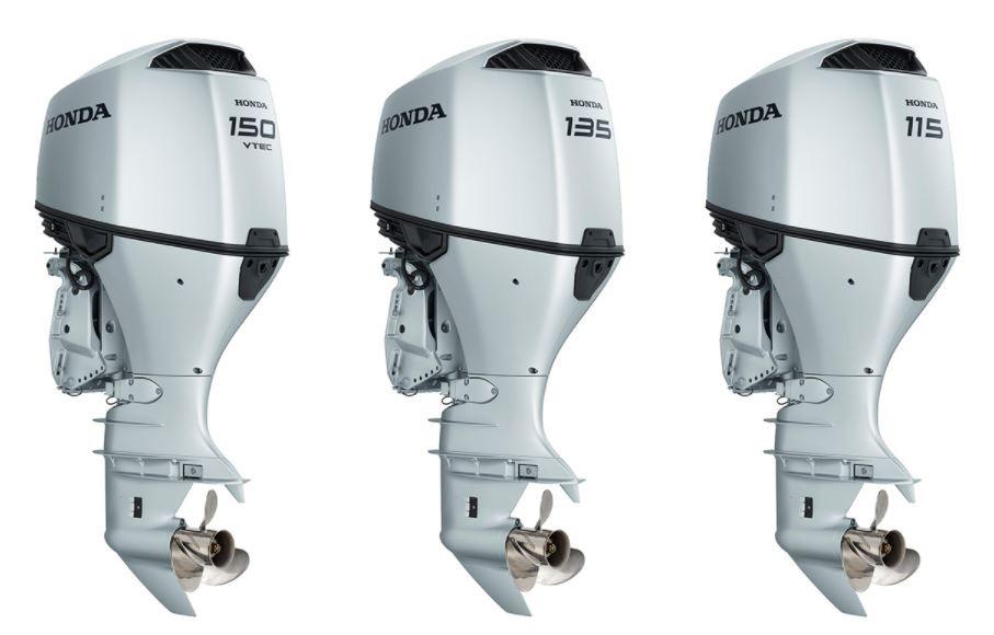 Honda Marine BF150, BF135, and BF115 outboard engines