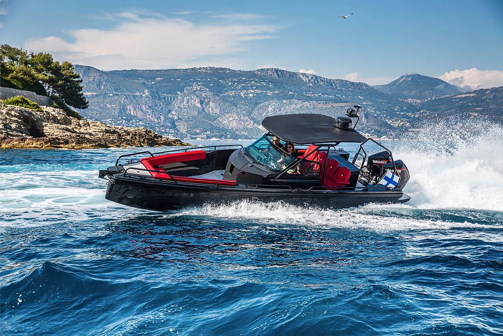 Axopar 28 Brabus Shadow 500 Cabin Black Ops Limited Edition Sea Test