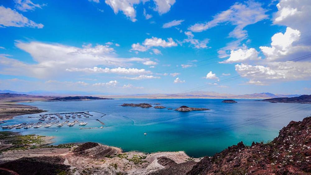 Lake Mead coastline and marina