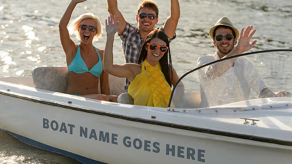 Friends having fun on boat