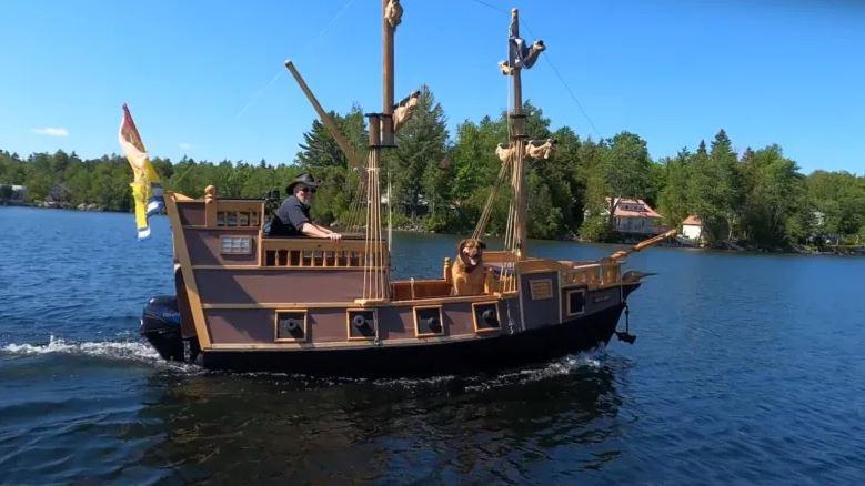 Homemade pirate ship