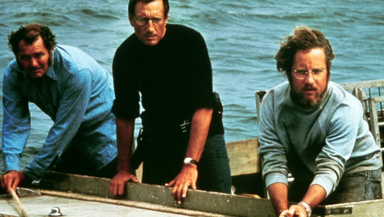 Jaws cast on Orca II boat