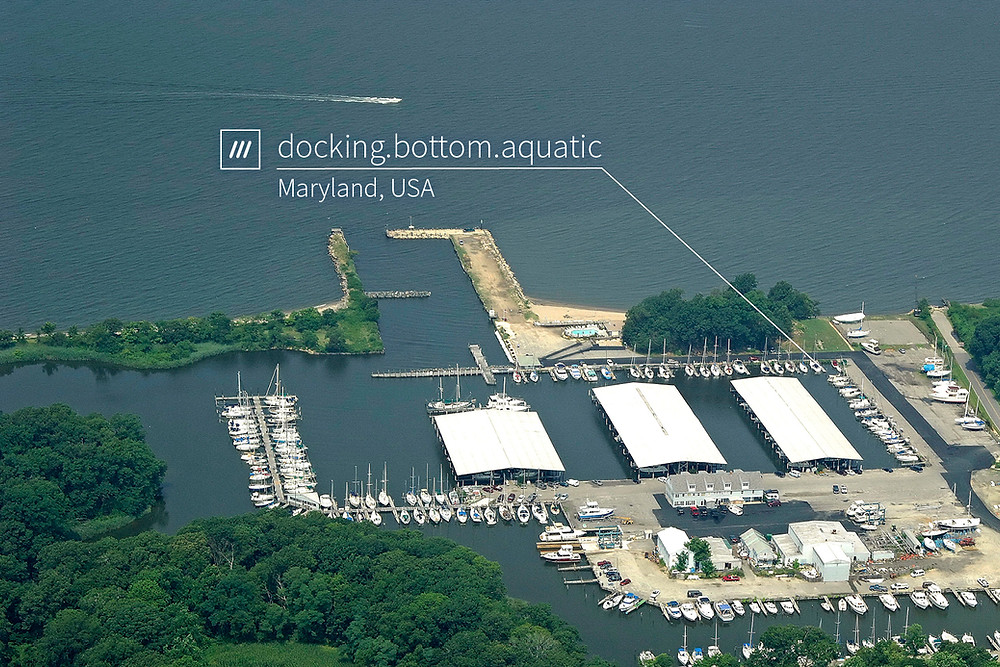 What3Words for Maryland marina