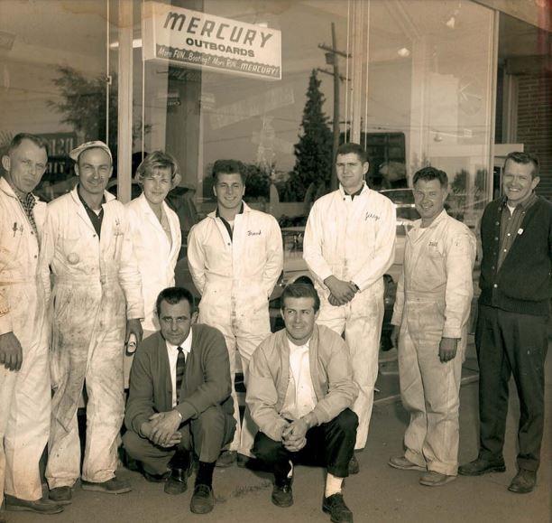 The Advanced Outboard Marine staff (pre-Bayliner), Seattle, WA 1958