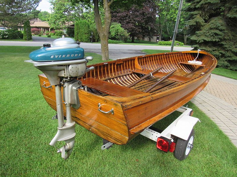 1949 Peterborough 13' runabout wooden boat