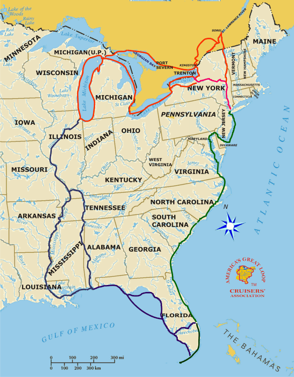 Great Loop boating route North America