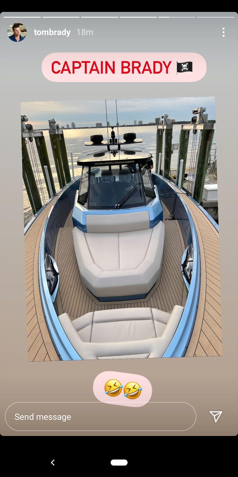 Tom Brady yacht