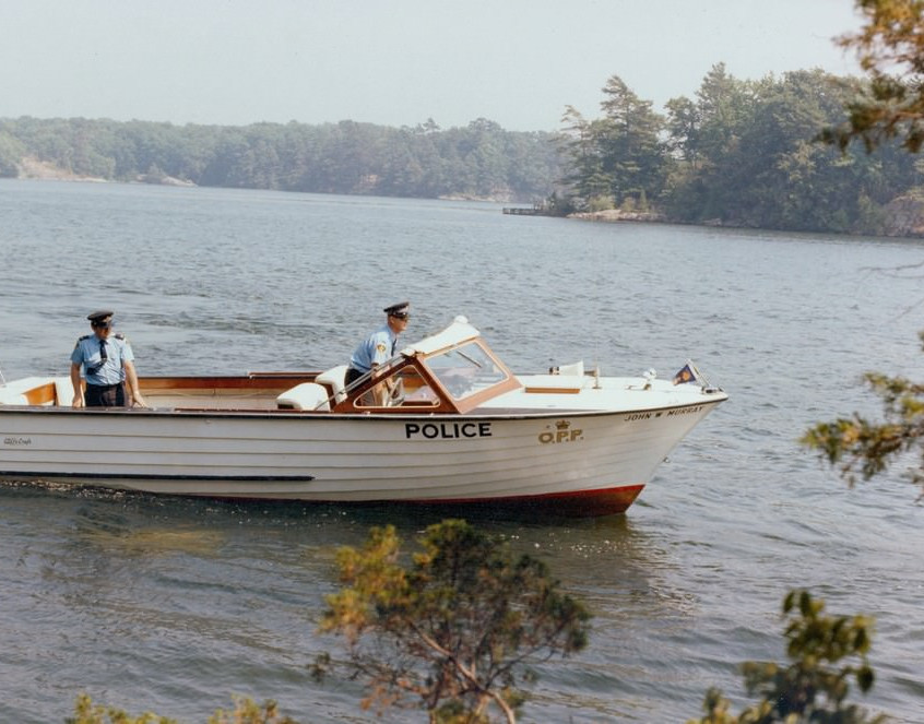 Cliffe Craft boat with OPP officers