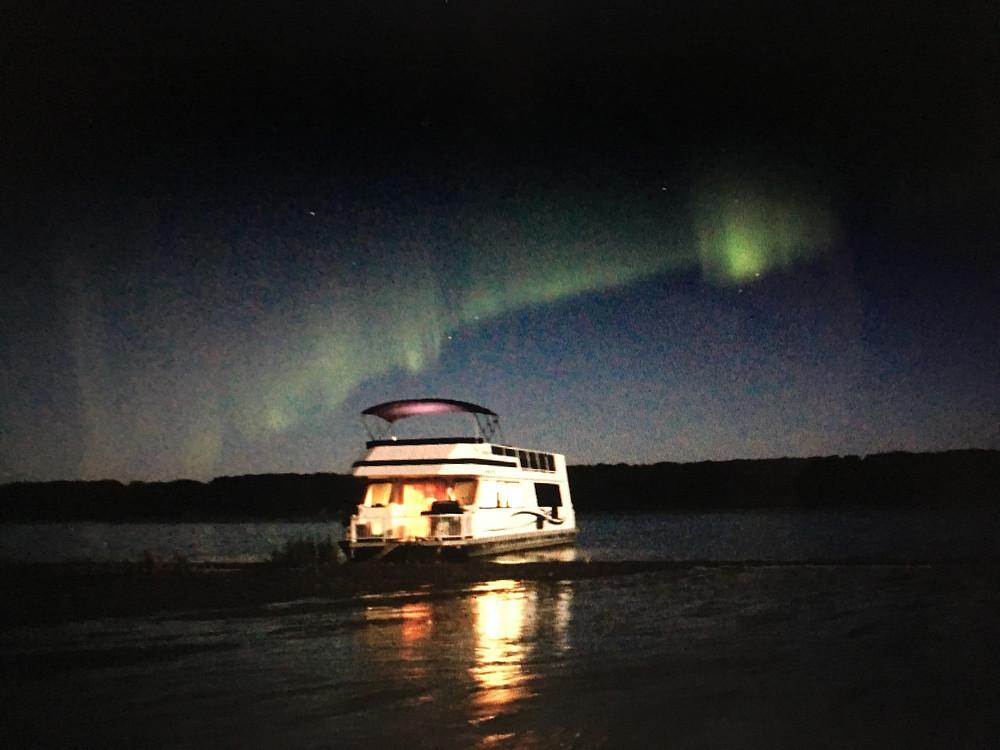 Northern lights on Tobin Lake SK