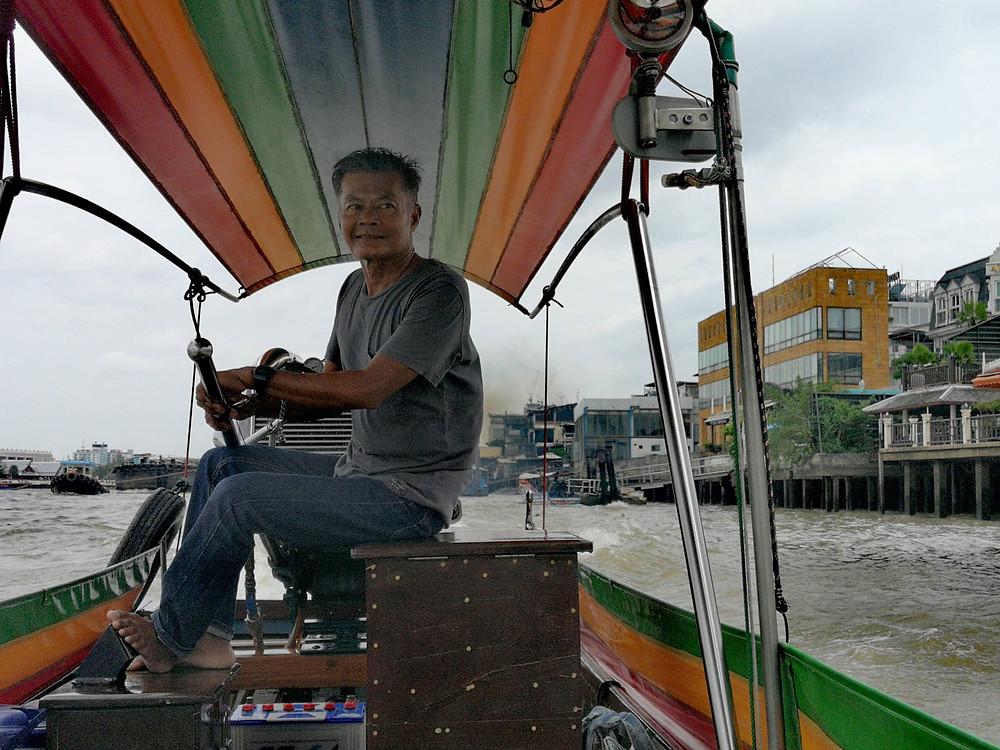 Thai longtail boat captain