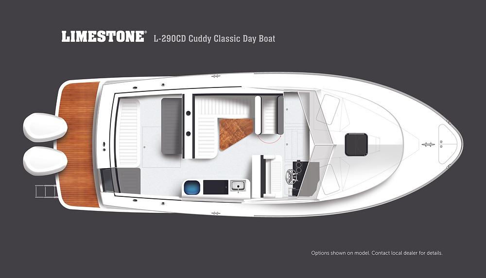 2021 Limestone L-290CD Cuddy Classic Day Boat