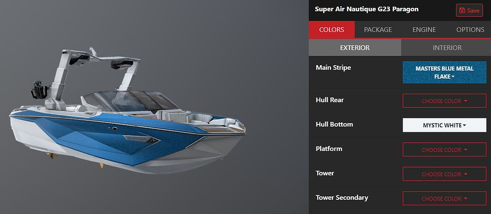 Super Air Nautique G23 Paragon Virtual Builder