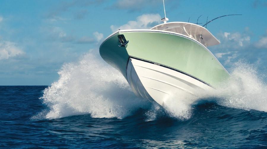 Boat jumping wake