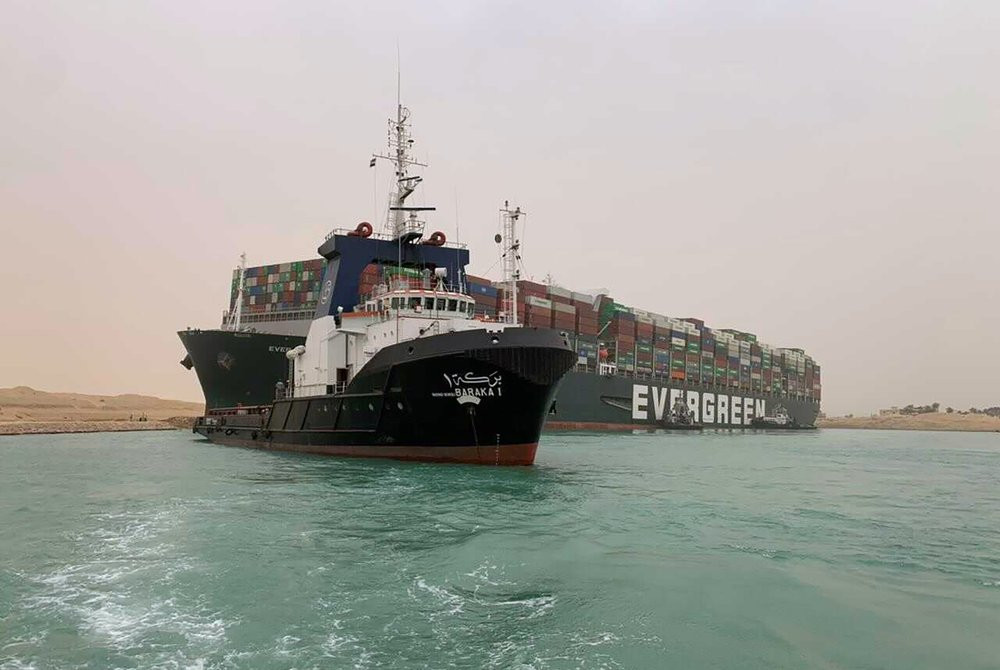 Ever Given container ship stuck in Suez Canal