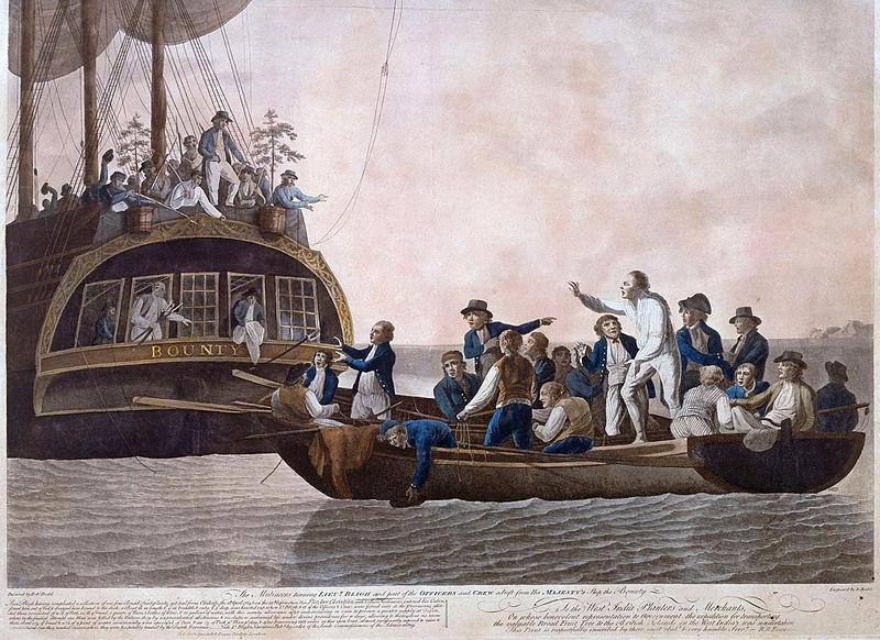 Robert Dodd Painting Mutiny Aboard HMS Bounty