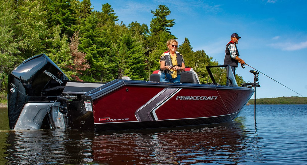 Princecraft aluminum fishing boat