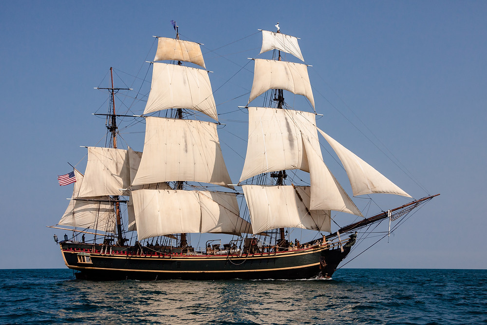 Replica of HMS Bounty Sailboat