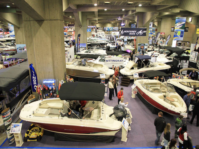Montreal Boat Show exhibitor hall