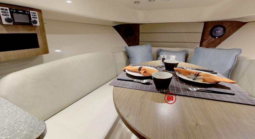 Boston Whaler Conquest 285 virtual tour galley