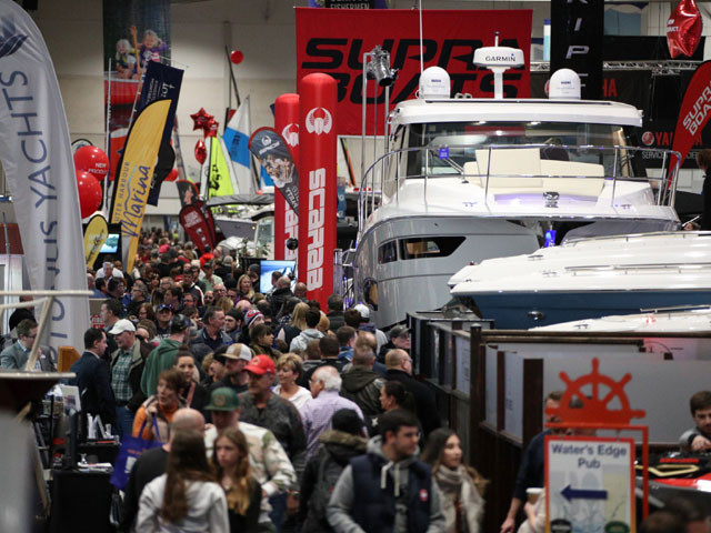 Toronto International Boat Show crowd