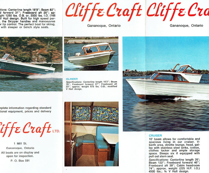 Cliffe Craft brochure