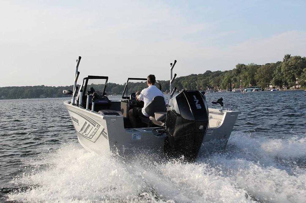 Fishing boat cruising