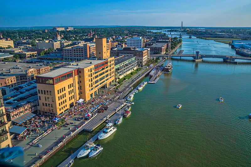 Downtown Green Bay Wisconsin on the Fox River