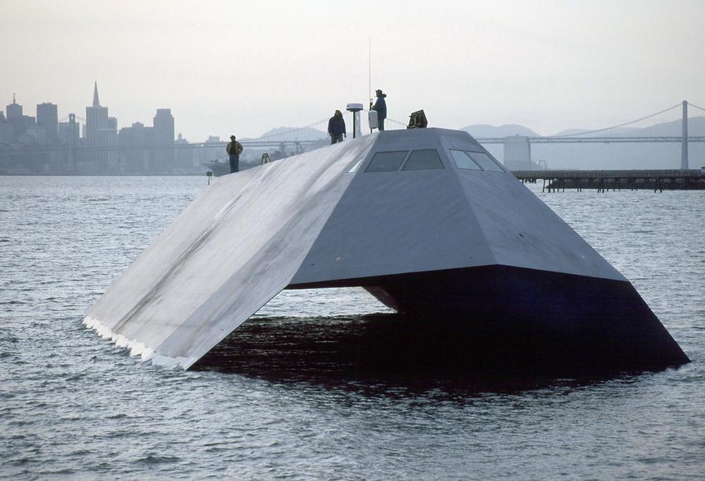U.S Navy Sea Shadow IX-529 at sea
