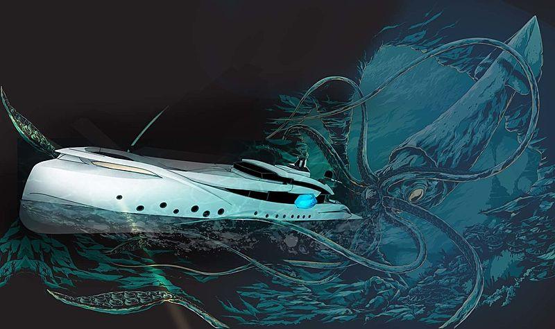 Super Yachts Monaco HypnoSquid design art