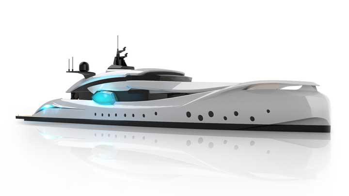 Super Yachts Monaco HypnoSquid design