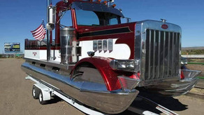 #WeirdBoats - The 'Peterboat' is Half Big Rig, Half Pontoon, and All Horsepower
