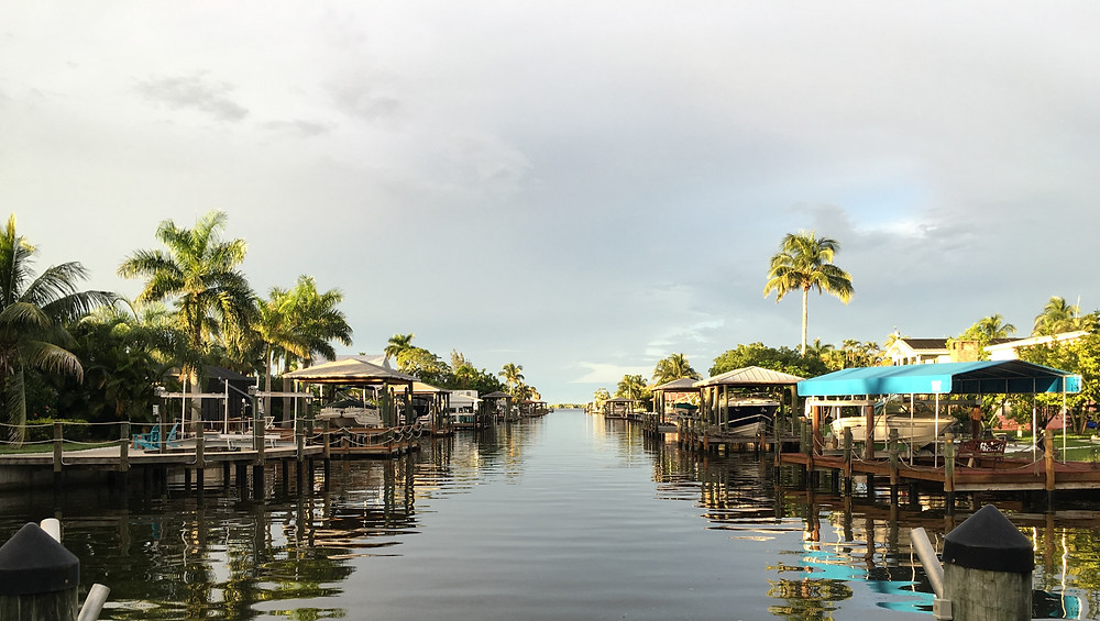 Fort Myers Beach Florida boating canal