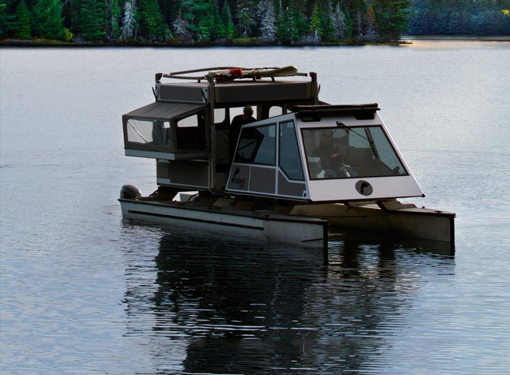 Footprint Boat on water